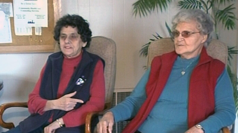 Nancy Inferrera, left, is allowed to return to Canada to care for her best friend Mildred Sanford.