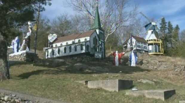 Murphyville is a collection of miniature buildings, replicas and religious figures perched on a steep embankment in west Saint John. Families have visited the tiny village since the 1960s, when it was built by former MLA Lou Murphy.