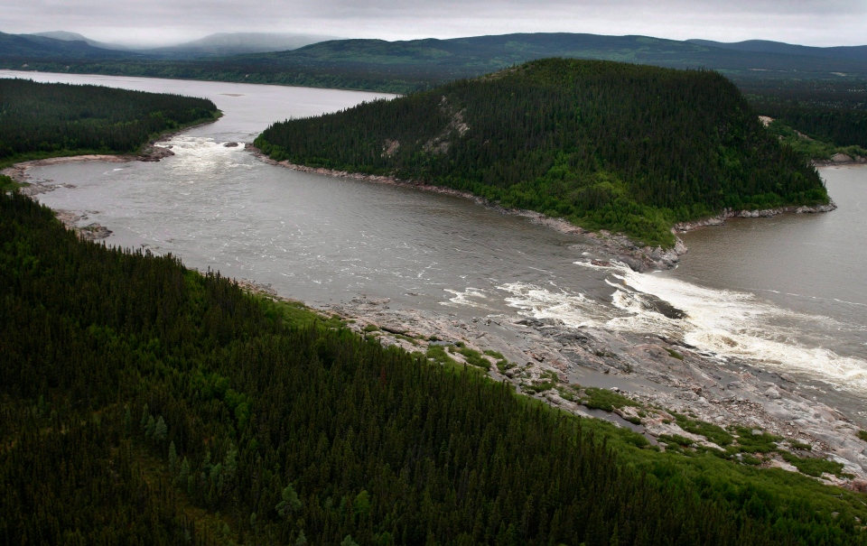 Muskrat Falls, on the Churchill River in Labrador, is shown in a Februrary 2011 file photo. (Paul Daly / THE CANADIAN PRESS)
