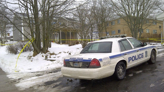 Police after investigating a fatal shooting in the Primrose Street and Pinecrest Drive area of Dartmouth.