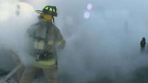 The Moncton Fire Department responded to a massive blaze at a Lakeville, N.B. home shortly after 11 a.m.
