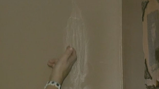 Denise Simon says an image of the Virgin Mary has appeared on her bedroom wall.