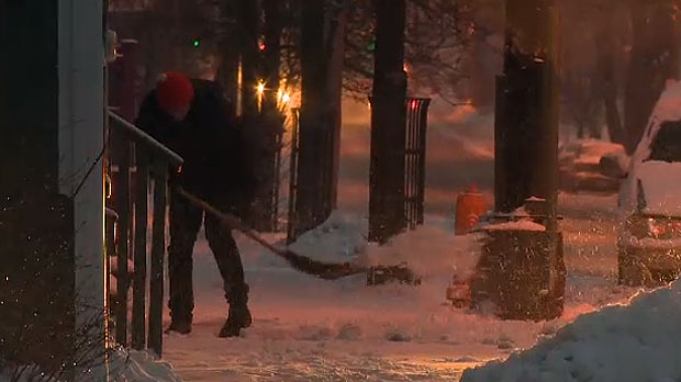 Maritimers are digging out as a storm pushes a mix of snow, rain and freezing rain through the region. (CTV Atlantic)