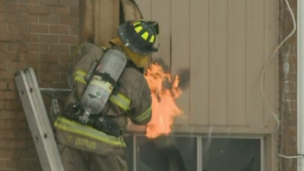 About 30 people were forced to evacuate an apartment building in Moncton early Friday due to fire.