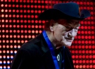 Canadian music legend Stompin` Tom Connors receives the Lifetime Achievement Award at the 20th Annual SOCAN Awards gala in Toronto Monday, November 23, 2009. THE CANADIAN PRESS/Darren Calabrese