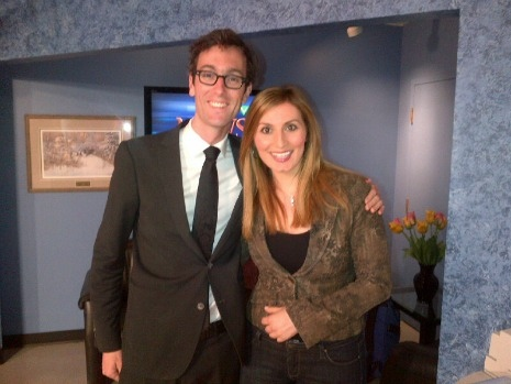 David Myles dropped by CTV Atlantic earlier today...