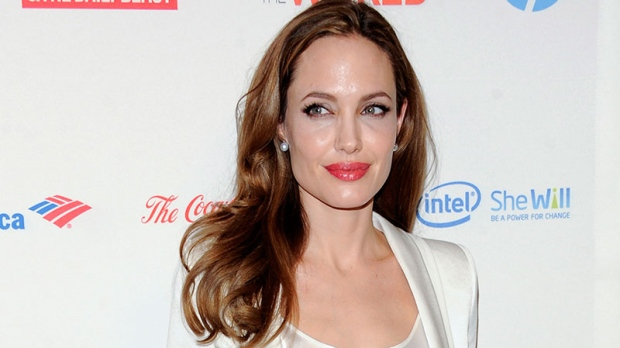 Angelina Jolie at the Women in the World Summit in New York, March 8, 2012. (AP / Evan Agostini)