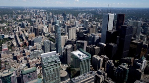 Toronto's financial district is pictured on Friday, July 26, 2013. (Michelle Siu / THE CANADIAN PRESS)