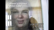 Ashley Smith is shown in this still image taken from a coroner's video. (HO / THE CANADIAN PRESS)