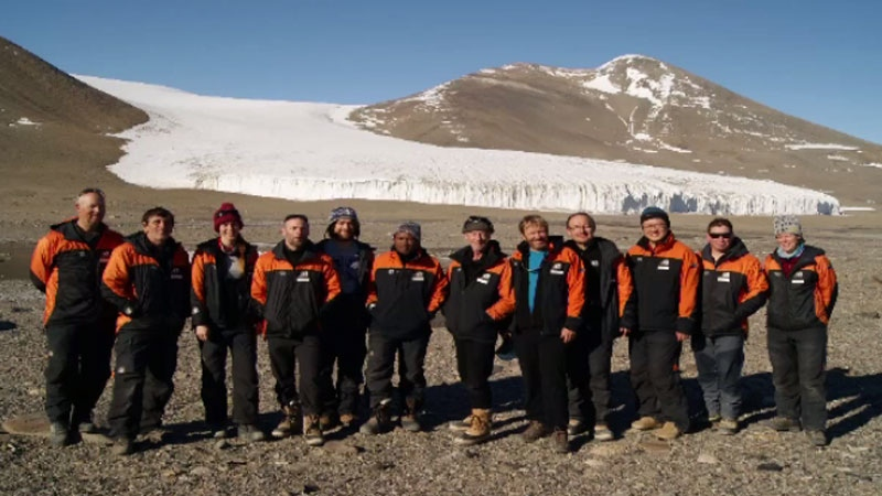 Chris MacIntyre worked with a team of scientists from New Zealand and California while on a three-week Antarctic expedition. (Chris MacIntyre)