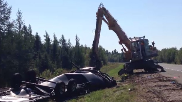 Two killed after van swerves to avoid moose, collides with truck - CTV News