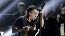 Bruce Springsteen performs at the 54th annual Grammy Awards on Sunday, Feb. 12, 2012 in Los Angeles. (AP Photo/Matt Sayles)