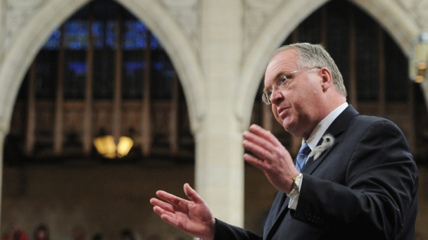 Minister of Fisheries and Oceans and for the Atlantic Gateway Keith Ashfield speaks during question period in the House of Commons on Parliament Hill in Ottawa on Friday, February 3, 2012. THE CANADIAN PRESS/Sean Kilpatrick