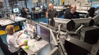 Meteorologists work at the Canadian Hurricane Centre, tracking Hurricane Gonzalo, in Dartmouth, N.S. on Friday, October 17, 2014. (Andrew Vaughan / THE CANADIAN PRESS)