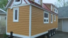 A Cape Breton couple is building an eco-friendly abode, which at just 175 square feet, is just one-tenth the size of a typical suburban home.