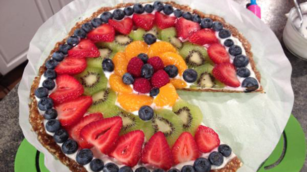 island fruit healthy fruit pizza