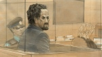 Everton Biddersingh is seen in a court sketch in Toronto on Monday, Nov. 2, 2015. (John Mantha / CTV Toronto)