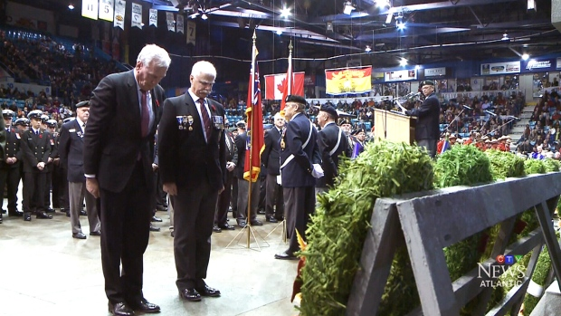 Former Sergeant-at-Arms receives ovation at Moncton Remembrance Day service