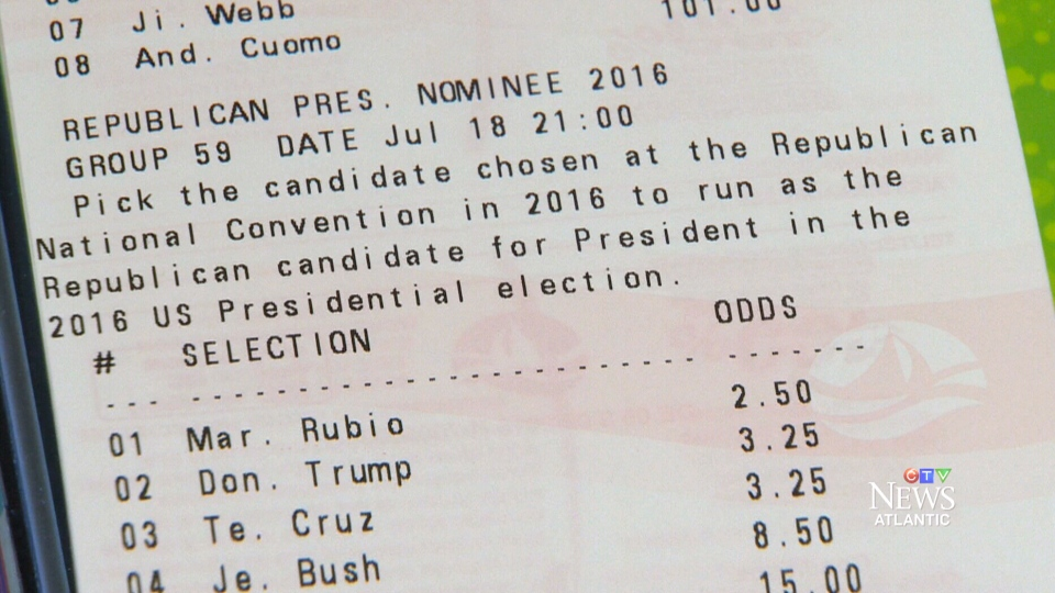 Atlantic Lottery is offering wagering on the United States presidential election through Pro-Line.