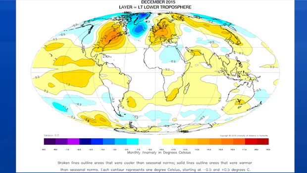 The year ended on a very warm note, not only here, but around the globe!