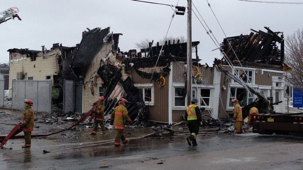A fire at a multi-unit apartment complex in New Waterford, N.S., has sent one person to hospital.