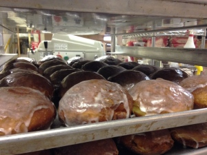 A batch of paczkis is pictured at Nougat Bakery in Kitchener on Tuesday, Feb. 9, 2016. Paczkis are a traditional Polish pastry often eaten as a final treat before the start of fasting for Lent.  (Max Wark / CTV Kitchener)
