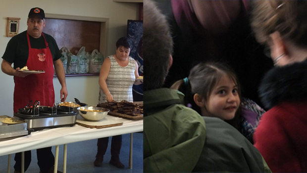 An outstanding surf and turf buffet served up at the Digby fire hall; a few minutes with a beautiful little girl....