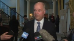 Opposition Leader Jamie Baillie addresses the media on the Yarmouth-to-Maine ferry deal on Tuesday, May 3, 2016.