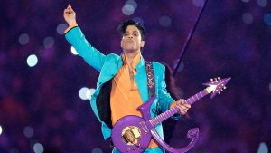 Prince performs during the halftime show at the Super Bowl XLI football game at Dolphin Stadium in Miami on Feb. 4, 2007. (AP / Chris O'Meara)