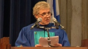 Singer Anne Murray delivers a speech after accepting an Honourary Degree of Humane Letters from Mount Saint Vincent University in Halifax on May 20, 2016.