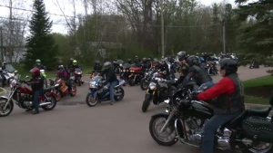 Bikers gathered in Moncton to remember Erin Robertson, who lost her life in a motorcycle crash.