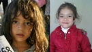 Mira Akram Al Jawabrah is shown in these family handout photos. Canadian relatives of a missing, five-year-old Syrian girl are appealing for help after a mysterious photograph (shown left) surfaced on the Internet, suggesting she may have been the only member of her family to survive a bid to escape the war-ravaged country. (THE CANADIAN PRESS/HO-Mohamed Masalmeh)
