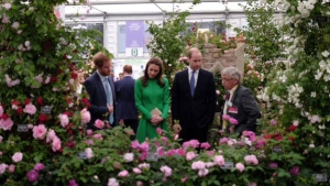 Members of the royal family attend the 2016 Chelsea Flower Show, Monday, May 23, 2016. (Kensington Palace / Twitter)