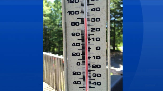 Madeline Rhodenizer took this photo on her deck at 2:30 yesterday afternoon.  She lives in Newcombville NS.