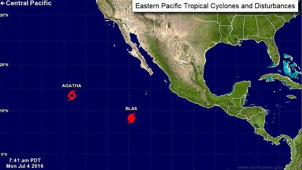 Two storms are brewing at this hour in the Eastern Pacific