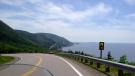 This photo shows the road along the Cabot Trail in Cape Breton, N.S., on July 13, 2010. (THE CANADIAN PRESS/AP-Glenn Adams)
