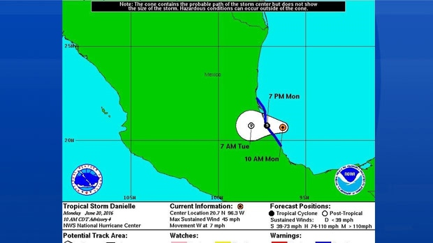 TS Danielle weakened to post tropical on June 20th; it's been very quiet ever since.