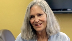 In this April 14, 2016 file photo, former Charles Manson follower Leslie Van Houten confers with her attorney Rich Pfeiffer, not shown, during a break from her hearing before the California Board of Parole Hearings at the California Institution for Women in Chino, Calif. California Gov. (AP / Nick Ut, File)