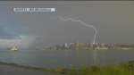 Skyline Studio captured this photo of a bolt of lighting striking Halifax on Saturday, July 23, 2016.