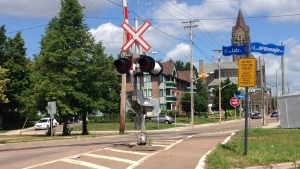 A 29-year-old man is dead after he was struck by a train at this crossing in Moncton.
