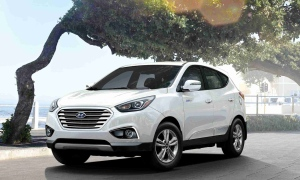 A hydrogen fuel cell-powered Hyundai Tucson like the ones currently for lease in the Vancouver, B.C. area. (Hyundai handout)