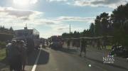 CTV Atlantic: 1 dead 9 injured in motorcycle crash