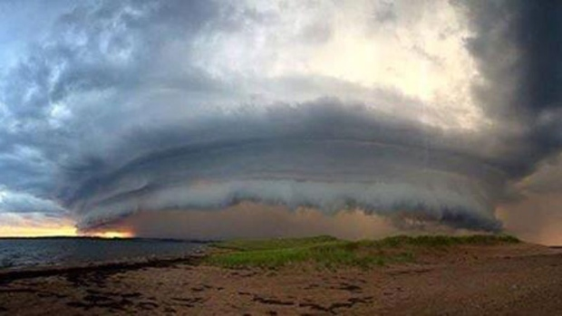 Many islanders were given a scare when this unusual cloud formation developed over PEI's north shore Thursday afternoon. Dan James snapped this photo from the middle of Cavendish Dunes,  PEI.