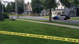 Police are investigating a shooting on Saunders Street in Fredericton.