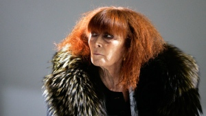 French fashion designer Sonia Rykiel looks on prior to the presentation of her men's fall/winter 2008-2009 fashion collection presented in Paris on In Jan.18 2008. (AP /Thibault Camus)