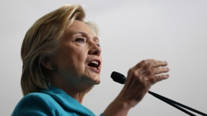 Democratic presidential candidate Hillary Clinton speaks during a campaign event at Truckee Meadows Community College, in Reno, Nev. on Thursday, Aug. 25, 2016. (AP / Carolyn Kaster)
