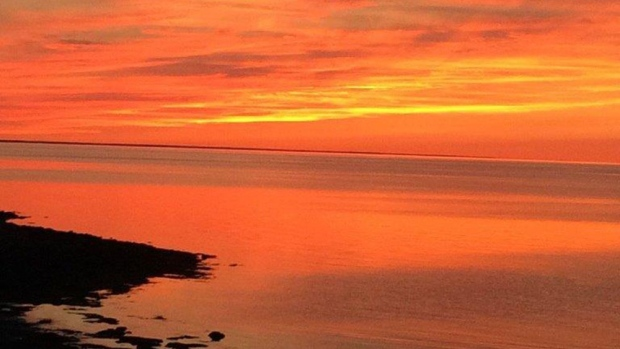 Karen Belliveau captured this amazing Labour Day sunset near Pugwash, NS - looking out across the Northumberland Strait. It says it all!