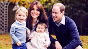 This photo released by Kensington Palace on Friday Dec. 18, 2015 shows The Duke and Duchess of Cambridge with their two children, Prince George and Princess Charlotte, in a photograph taken late October 2015 at Kensington Palace in London. Kensington Palace has confirmed that Prince William and his wife, Kate, will be bringing their children Prince George and Princess Charlotte with them to Canada later this month. The family is scheduled to start a week-long tour of B.C. and the Yukon on Sept. 24. (Chris Jelf via AP) MANDATORY CREDIT