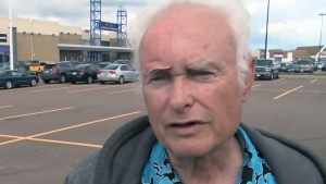 Harold Keller, 72, was stabbed a number of times when two men wearing bandanas and ninja suits attacked him.