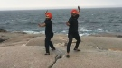 The Maritime Bhangra Group's video of Davinder Singh and Kunwardeep Singh dancing on the rocks of Peggy's Cove has been seen nearly a quarter million times since it was posted four days ago.